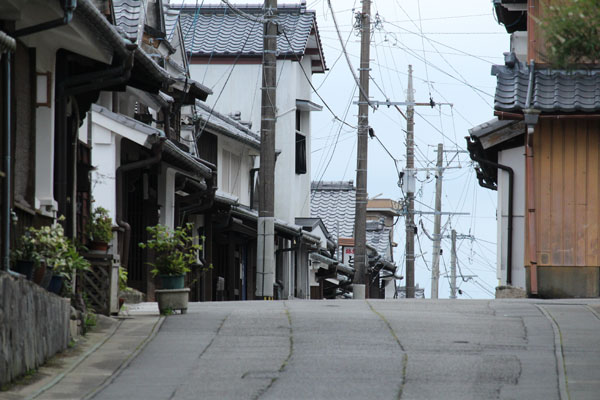 上町通りを撮影