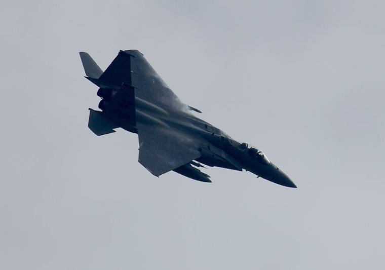 2014.10.18新田原基地に訓練のため飛来した米軍のf15