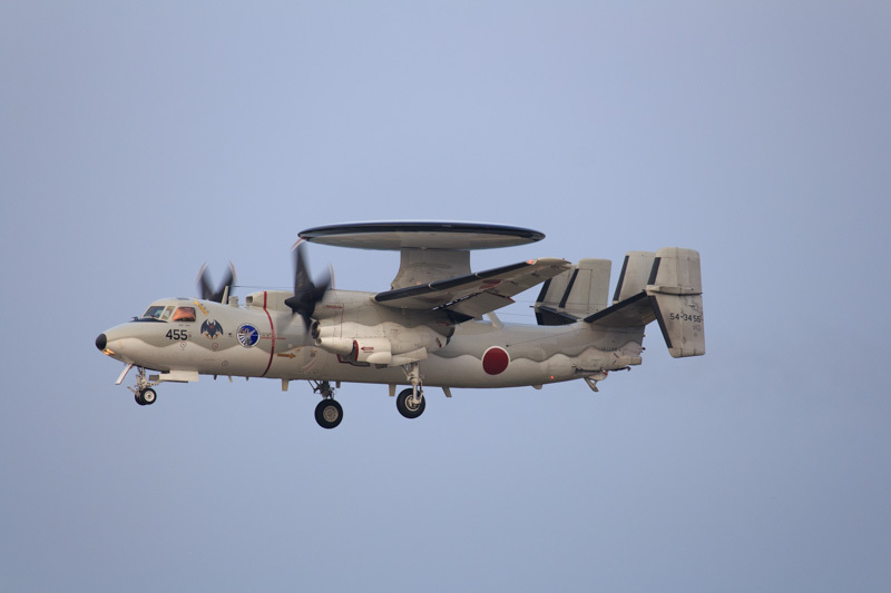 2014.11.12 新田原基地にやってきた早期警戒機E-2Cの写真