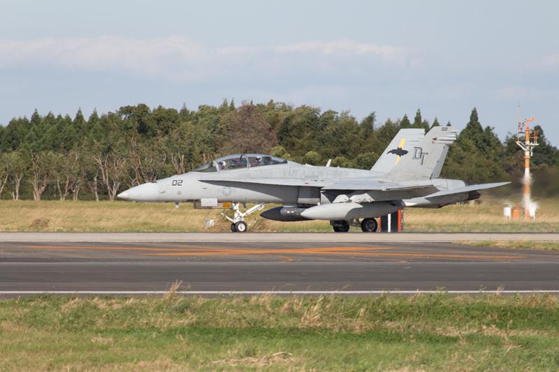 米軍岩国基地から新田原基地に来ていたF/A-18ホーネット