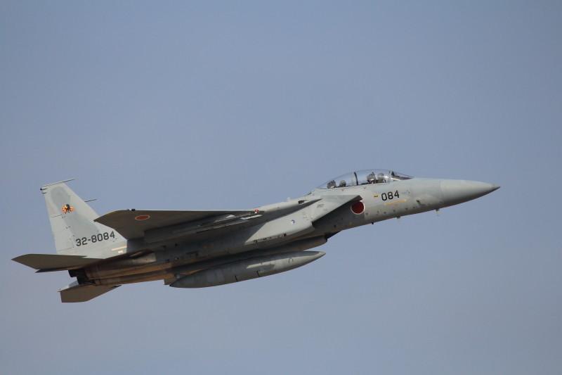 新田原基地の仕事始めでf-15