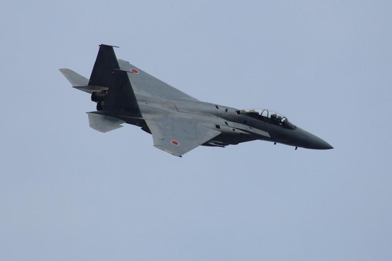 新田原基地で早速仕事始めを行うf-15