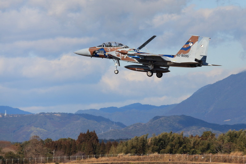 新田原基地に着陸するf-15アグレッサー