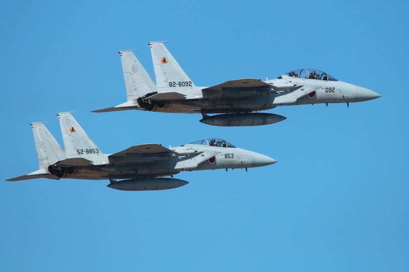 新田原基地所属アイコンタクトで離陸するF-15
