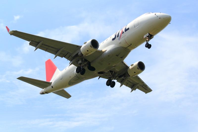 宮崎空港へ着陸態勢