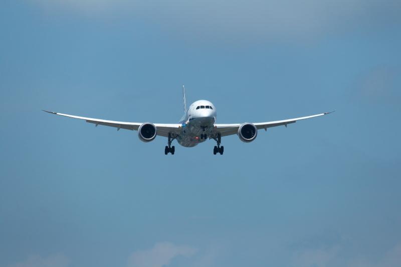 宮崎空港にやってきたB787翼のしなりが最高に気持ちいい飛行機