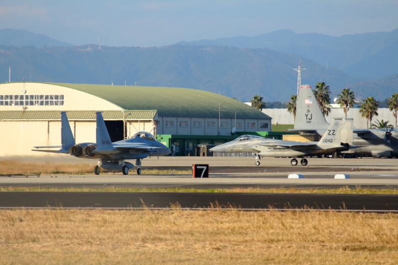 共同訓練のため新田原基地に飛来した米軍