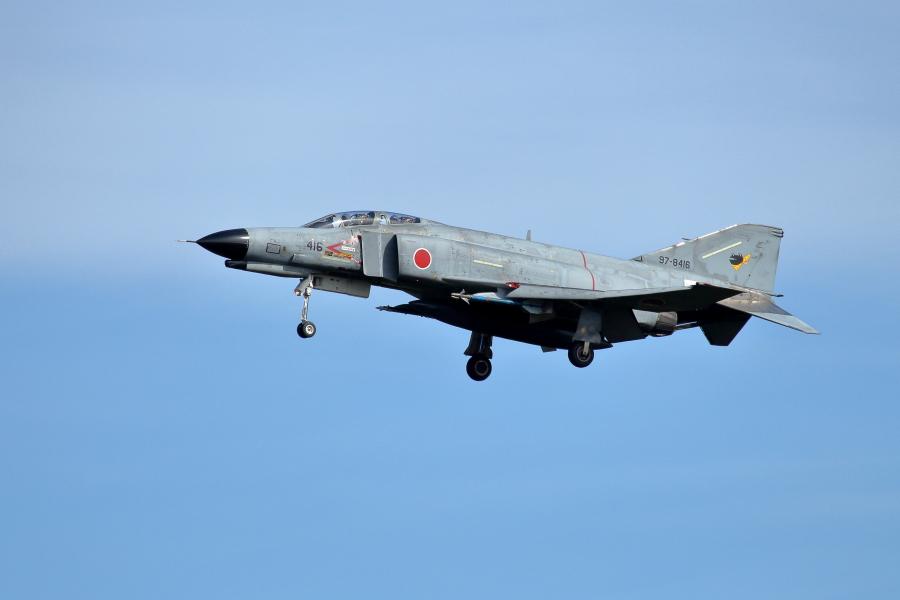 新田原基地でまだまだ頑張るF4戦闘機