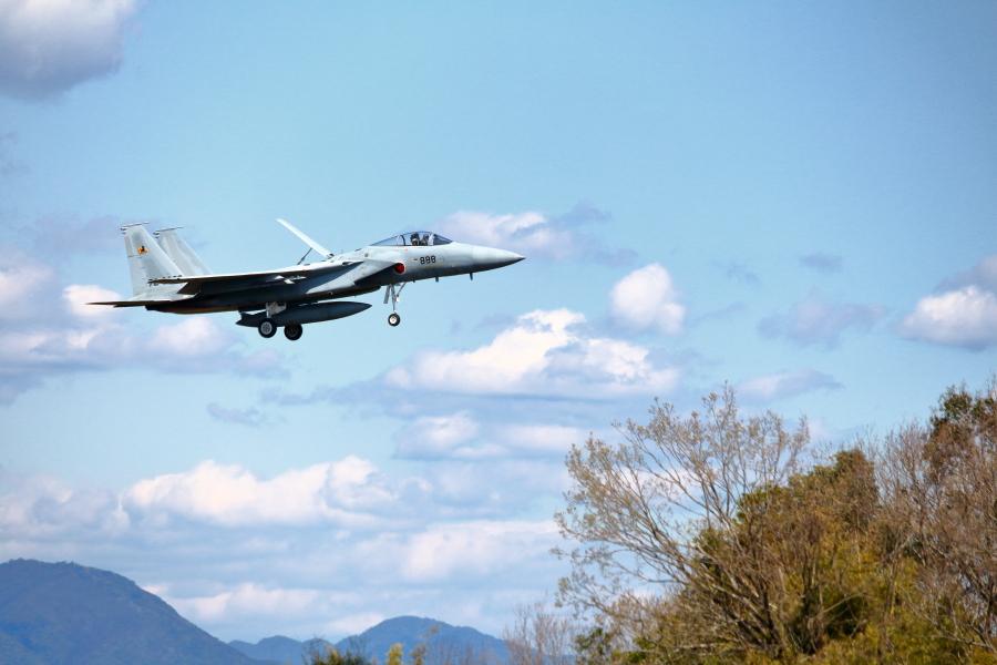 機体番号72-8888を付けた新田原基地のF-15
