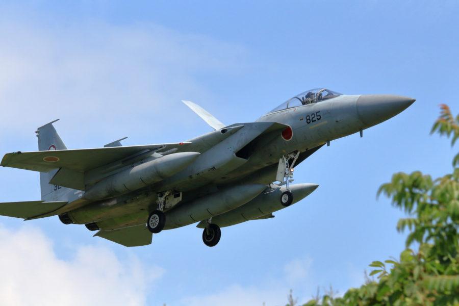 新田原基地で飛行訓練をする百里基地所属305飛行隊