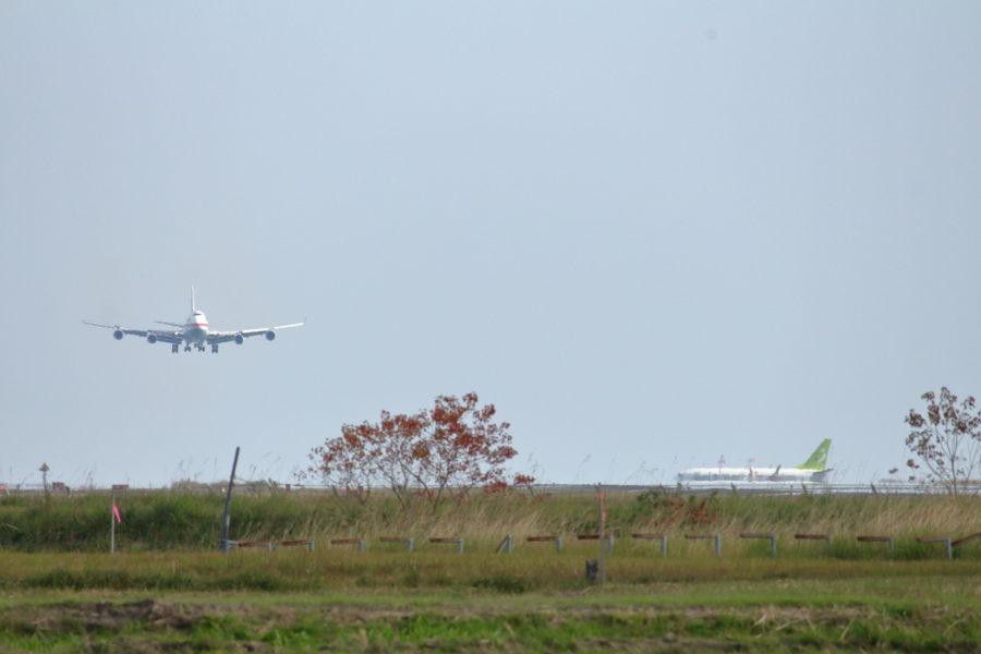2016年12月8日、政府専用機が宮崎空港にやって来た