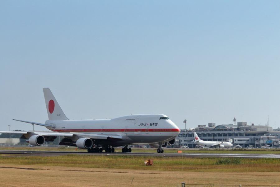 宮崎空港にやって来た2番機政府専用機