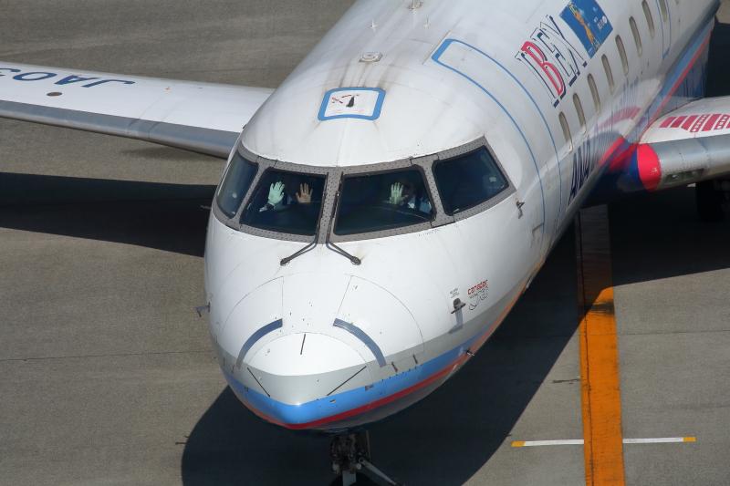 宮崎空港に駐機中のIBEX機