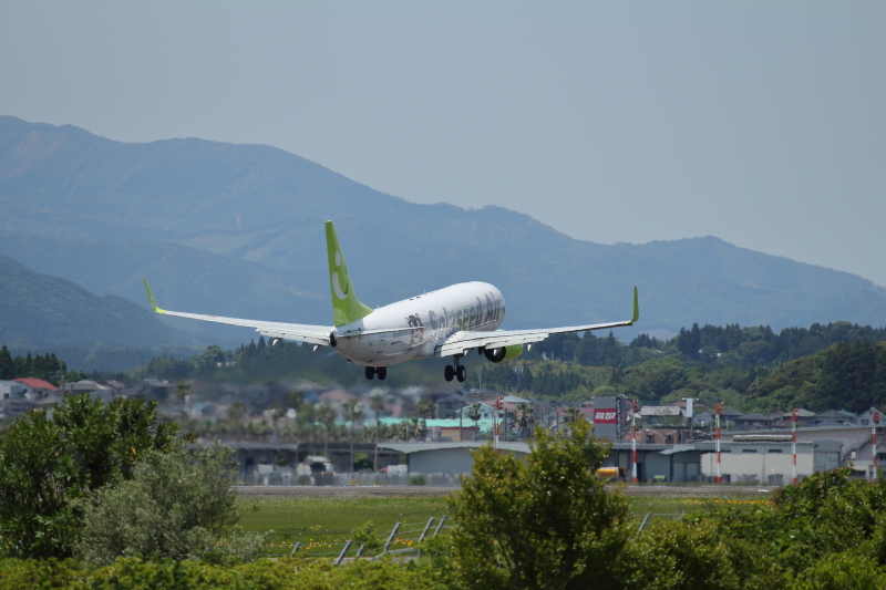宮崎空港でくまモンゴーアラウンドした