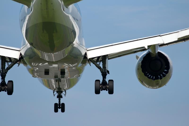B787飛行機はボディーが大きいので撮りやすい機種だ