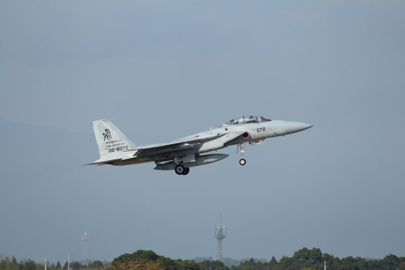 新田原基地から訓練に向かうくろ馬飛行機
