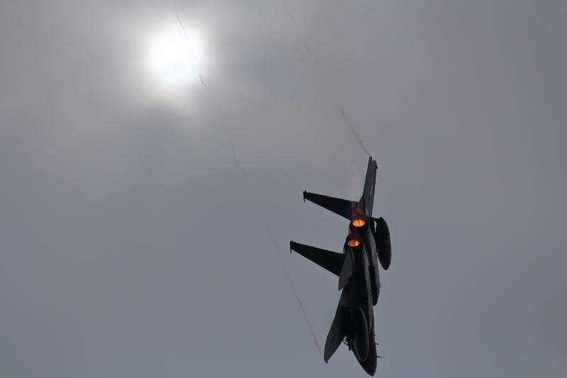 2018エアフェスタ前の起動飛行を期待して新田原基地に行く行く。F-15戦闘機