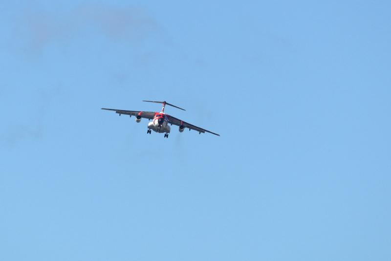 新田原基地にやって来た歌舞伎な塗装をしたC-1輸送機