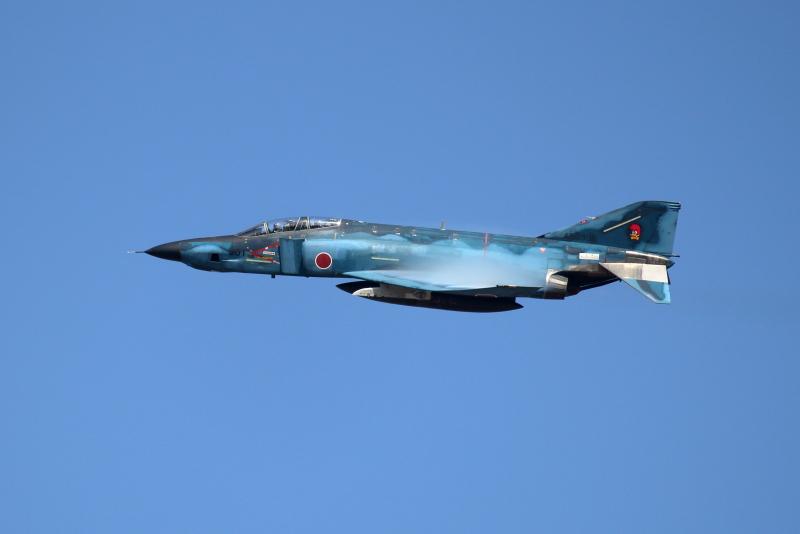 新田原基地に来ているRF-4E偵察飛行機