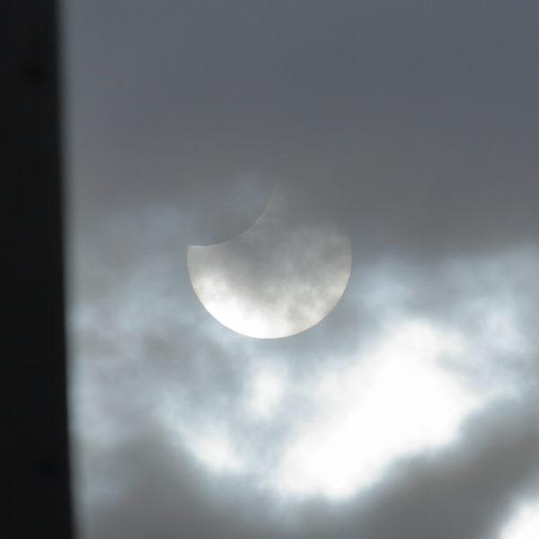 宮崎市での部分日食写真平成31年1月6日