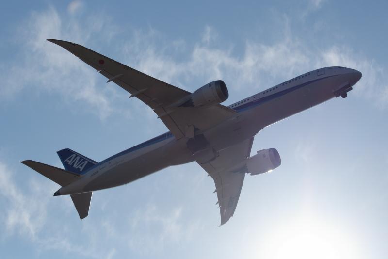 平成31年ー2019年宮崎空港の飛行機写真撮影ANA B787-9型機