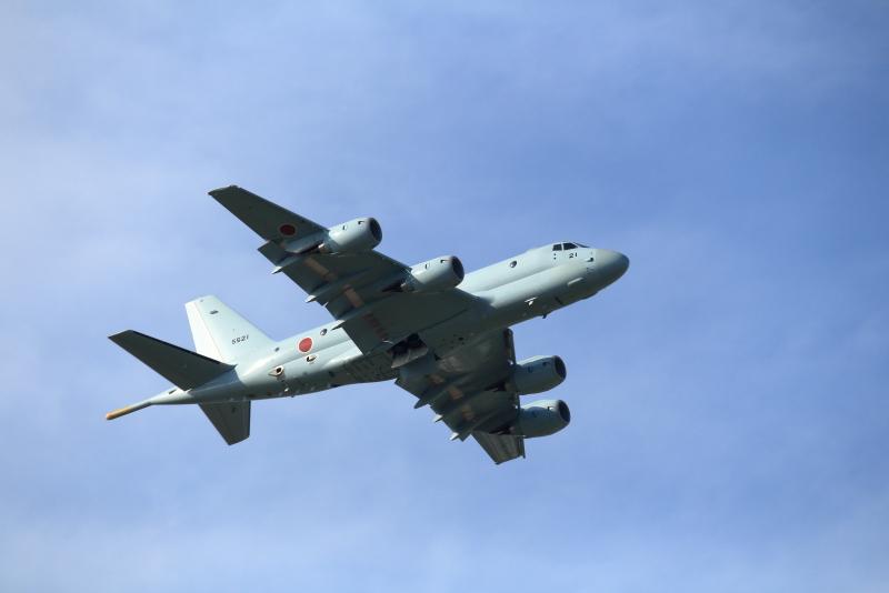 海上自衛隊鹿屋基地所属のP-1が新田原機にやって来た。