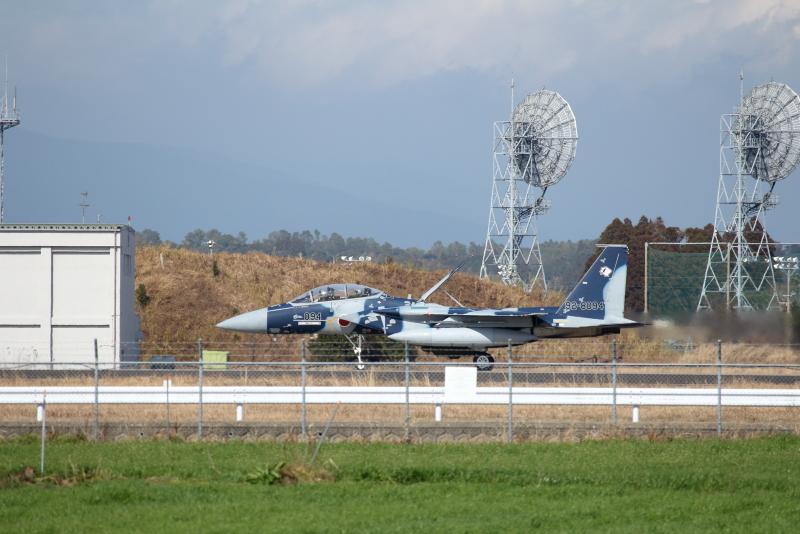 新田原基地にやって来た小松基地のアグレッサー軍団