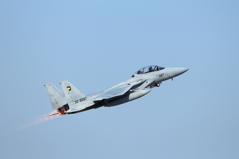 新田原基地に来ていた小松基地所属第306飛行隊の戦闘機