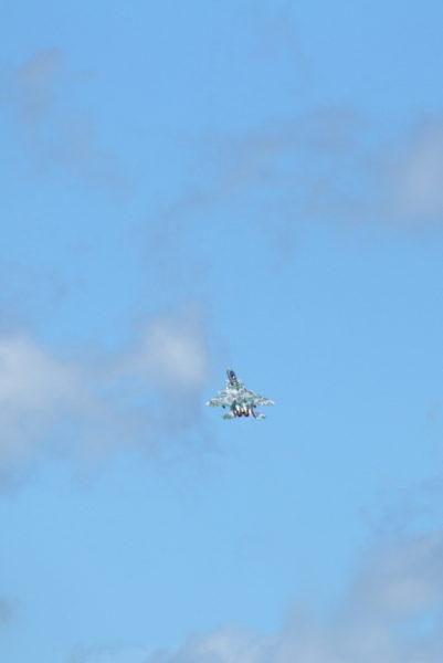 新田原基地にF15アグレッサーが来ていた。お帰りはクライムハイレートで花をそえた。