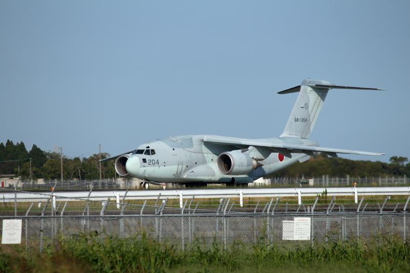 新田原基地に来ていたC-2輸送機、見た目頼もしそうな安定感Gいい。